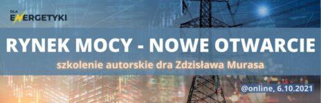 RYNEK MOCY. Zaproszenie na autorskie szkolenie dr Zdzisława Murasa